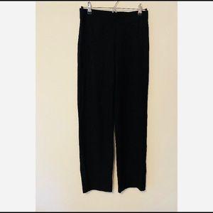 Eileen Fisher Black Dress Pants Wide-Leg